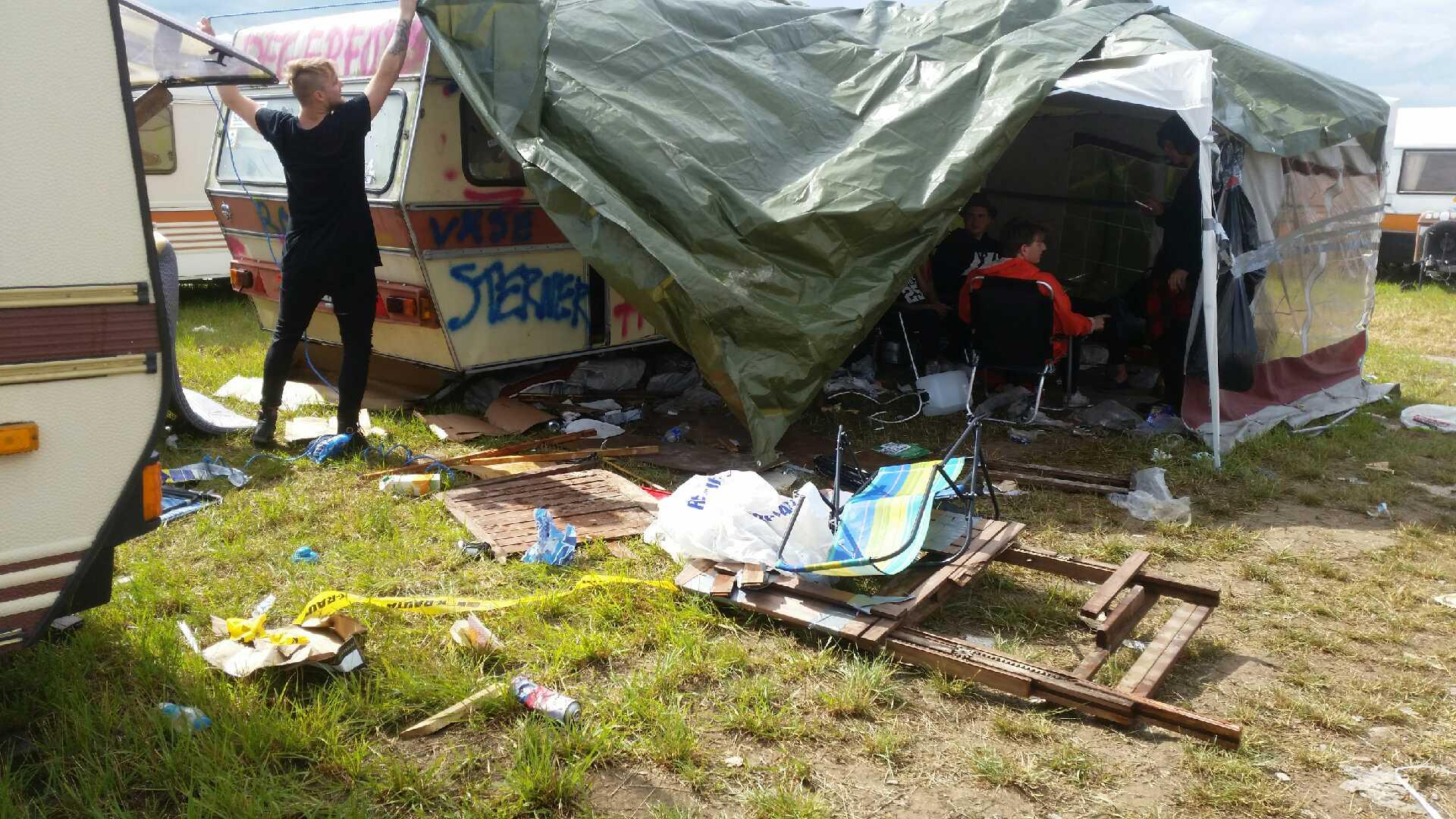 Kaos på campingen